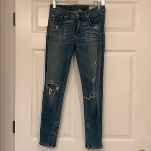 Rag & Bone Zipper Capri Jeans- Size 28